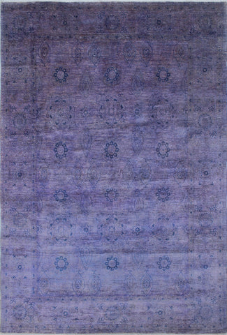 "Overdyed Cliftun Purple/Blue Rug, 9'11"" x 14'8"""