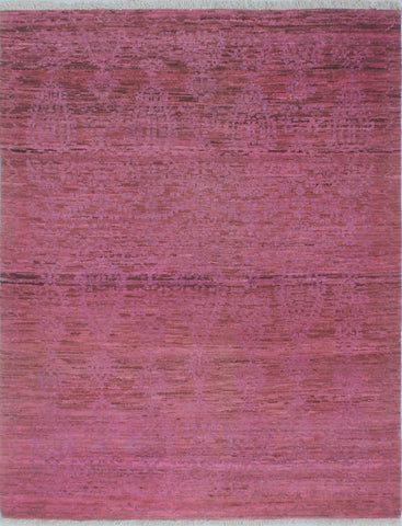 "Overdyed Zarghona Purple/ Rug, 4'11"" x 6'2"""