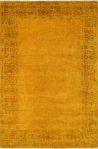 Overdyed Bakr Gold/Rust Rug, 6'0 x 9'3