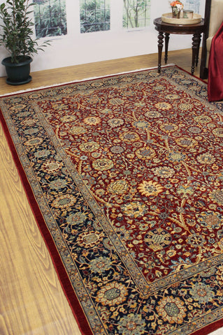 "Ankara Hamza Red/Blue Rug, 6'2"" x 9'1"""
