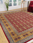 "Wali Nilofer Red/Gold Rug, 8'1"" x 10'2"""