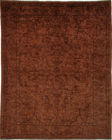 Overdyed Walker Brown/Chocolate Rug, 8'8 x 11'2