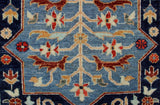 "Aria Cranleah Blue/Red Rug, 2'6"" x 10'0"""