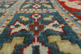 "Aria Jessa Blue/Red Rug, 3'10"" x 6'4"""