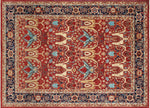 "Aria Brainard Rusty-Red/Blue Rug, 9'11"" x 13'9"""