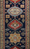 "Aria Barrington Blue/Gold Rug, 2'5"" x 7'7"""