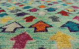 "Balochi Esi Green/Purple Rug, 4'8"" x 6'6"""
