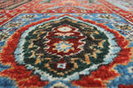 "Aria Henry Red/Blue Rug, 7'10"" x 9'10"""