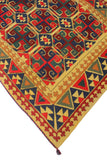 "Vintage Arietta Gold/Red Rug, 4'8"" x 8'3"""