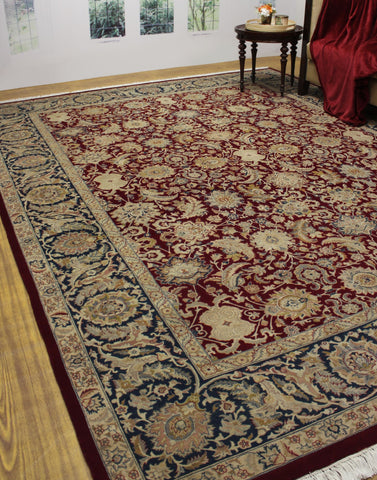 "Wali Agra Red/Blue Rug, 9'0"" x 12'3"""