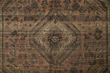 "Vintage Bristol Peach/Brown Rug, 4'9"" x 9'9"""