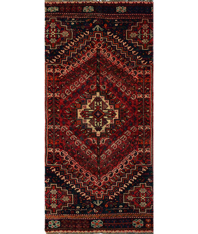 "Vintage Esme Red/Blue Runner, 3'5"" x 7'10"""