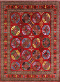 "Aria Kofi Red/Blue Rug, 9'2"" x 12'4"""