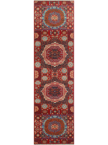 "Aria Gerald Red/Blue Runner, 2'8"" x 9'8"""
