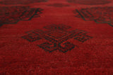 "Vintage Lainey Red/Black Rug, 6'5"" x 9'8"""