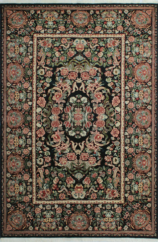 "William Taimor Black/Green Rug, 6'1"" x 9'1"""