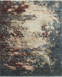 "Fine Galaxy Kevin Ivory/Red Rug, 8'0"" x 9'8"""