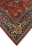 Aria Jaide Red-Rust/Blue Rug, 9'0 x 12'1