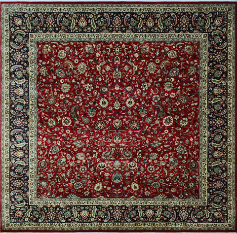 "Heirloom Amoughli Red/Blue Square Rug, 8'4"" x 7'10"""