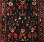 "Semi Antique Alayah Blue/Red Runner, 3'11"" x 11'10"""