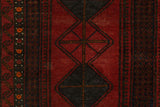 "Semi Antique Kalani Red/Blue Rug, 3'7"" x 5'10"""