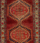 "Semi Antique Alanna Red/Ivory Runner, 3'7"" x 10'5"""
