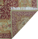 "Wali Abusan Lt. Green/Burgundy Rug, 9'0"" x 11'10"""