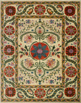 "Aria Briella Ivory/Orange Rug, 9'2"" x 12'4"""