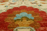 "Aria Adelynn Ivory/Orange Rug, 8'0"" x 10'1"""