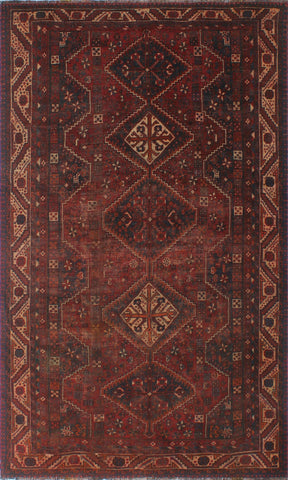 "Semi Antique Savanna Red/Blue Rug, 5'8"" x 9'4"""