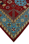 "Aria Roselyn Red/Lt. Blue Rug, 9'11"" x 13'8"""
