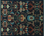 "Aria Kobe Blue/Red Rug, 8'0"" x 9'8"""