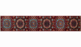 "Aria Ilene Red/Blue Runner, 2'6"" x 14'7"""