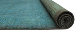 "Overdyed Sufir Grey/Blue Rug, 6'1"" x 8'8"""