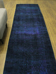 "Vintage Tooba Purple/Green Runner, 3'0"" x 11'3"""
