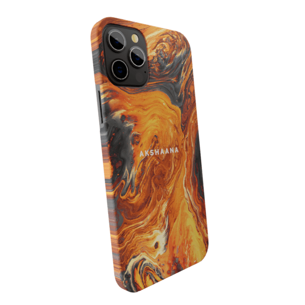 Golden fudge Marble Matte finished Name Printed Back Case Zozzlefield