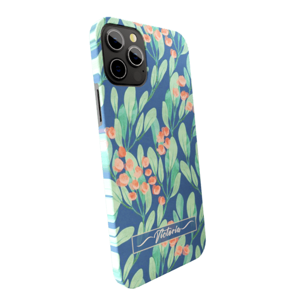 Green petals  zozzlefield Matte finished Name Printed Back Case Zozzlefield