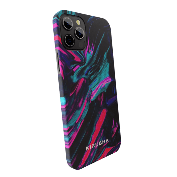 Liquid Black & violet Marble Matte finished Name Printed Back Case Zozzlefield
