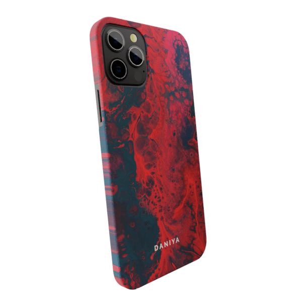 Liquid Red Marble Matte finished Name Printed Back Case Zozzlefield