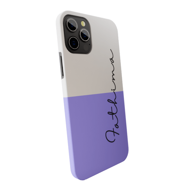 Peach & Grape Ice cream   Matte finished Name Printed Back Case Zozzlefield
