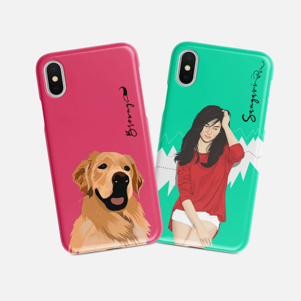 Pet & You together Matte finished Name Printed Back Case Zozzlefield