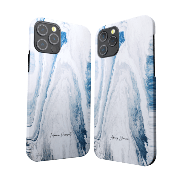White & Blue foam zozzlefield Couple Cases Zozzlefield