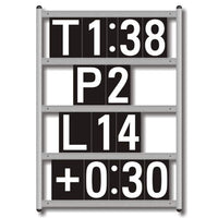 Basic 4-Line Pit Board - one piece aluminum frame
