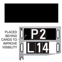 Background Card for Pit Board to improve rider visibility