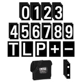 Numeral & Character Card Set - screen printed graphics