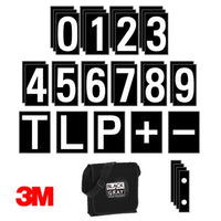 High-visibility Numeral & Character Card Set - 3M Vinyl graphics