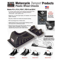 Motorcycle Wheel Chocks by BLACK+GRAY- sizes for all types of motorcycles and bikes