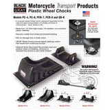 Front and Rear Wheel Chocks by BLACK+GRAY- for all types of motorcycles