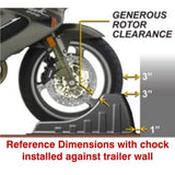 Wheel Chock for safe and easy motorcycle transport