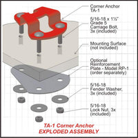 Truck and trailer anchor hardware